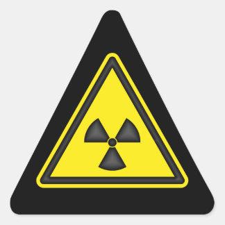 Pegatina de la señal de peligro de la radiación