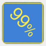 pegatina de la señal de tráfico del 99%