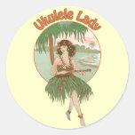 Pegatina de la señora #1 del Ukulele