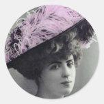 pegatina de la señora del vintage