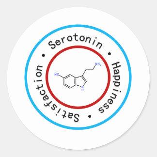 Pegatina de la serotonina
