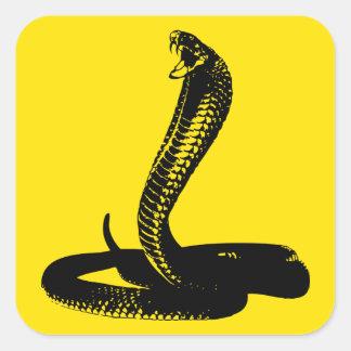 Pegatina de la serpiente de la cobra real