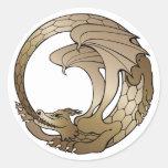 Pegatina de la serpiente de Ouroboros