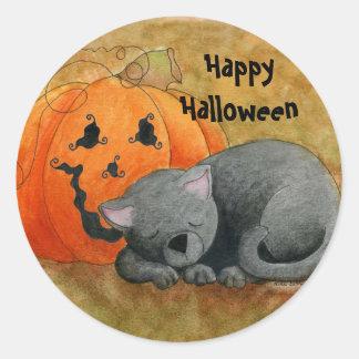 Pegatina de la siesta de Halloween