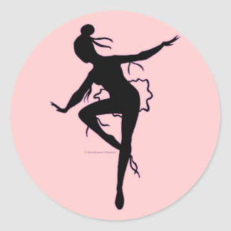 Pegatina de la silueta de la bailarina de Prima
