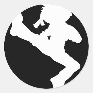 Pegatina de la silueta del muchacho del karate