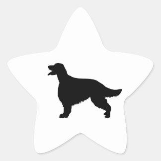 Pegatina de la silueta del negro del perro de