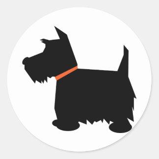 Pegatina de la silueta del negro del perro de Terr