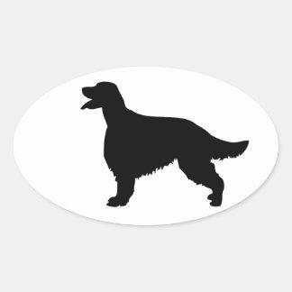 Pegatina de la silueta del perro de Irish Setter,