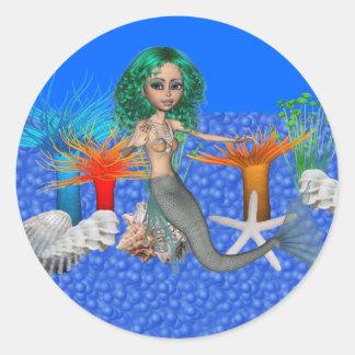 Pegatina de la sirena