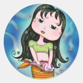 Pegatina de la sirena de Adriana