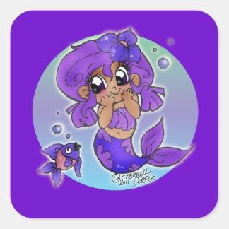 Pegatina de la sirena de Chibi