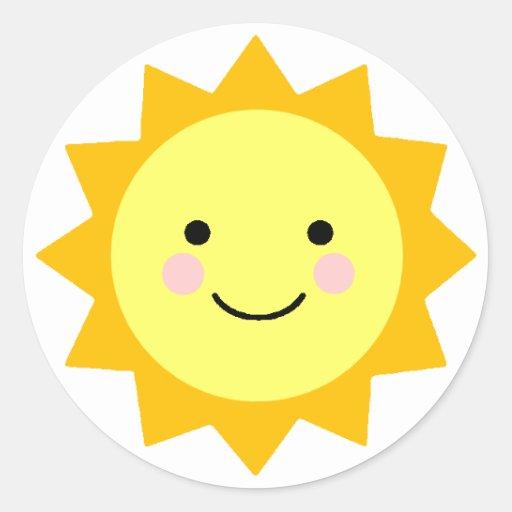 Pegatina de la sol