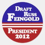 Pegatina de la solapa de Russ Feingold del proyect