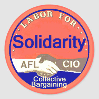 Pegatina de la solidaridad