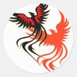 Pegatina de la sombra de una Phoenix