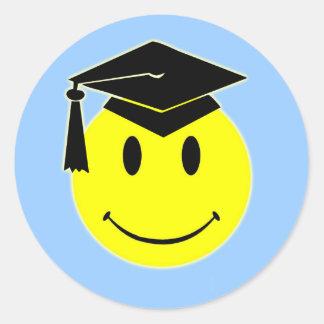 Pegatina de la sonrisa de la graduación