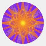 Pegatina de la supernova del fractal