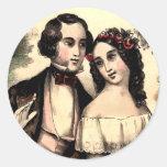 Pegatina de la tarjeta del día de San Valentín de
