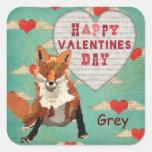Pegatina de la tarjeta del día de San Valentín del