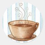 Pegatina de la taza de café