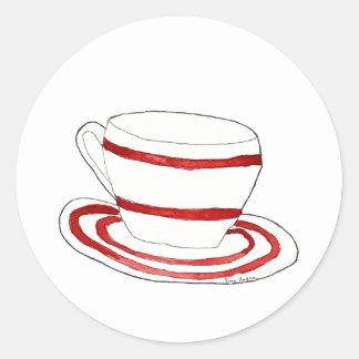 Pegatina de la taza y del platillo