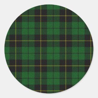 Pegatina de la tela escocesa de Wallace de la caza