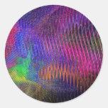 Pegatina de la textura del fractal del arco iris