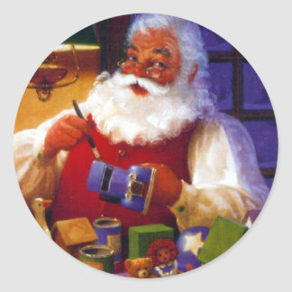 Pegatina de la tienda del juguete de Papá Noel