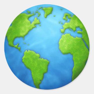 Pegatina de la tierra del planeta