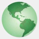 Pegatina de la tierra verde