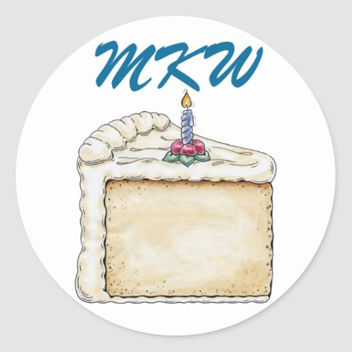 Pegatina de la torta de cumpleaños - SRF