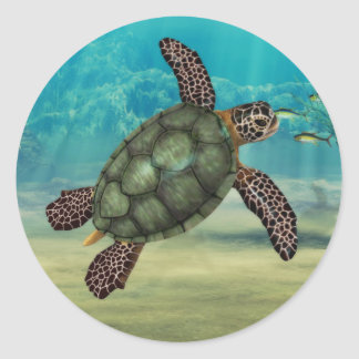 Pegatina de la tortuga de mar