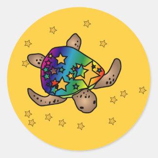 Pegatina de la tortuga de Starburst