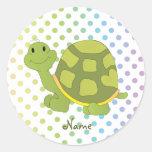 ¡Pegatina de la tortuga del estallido!