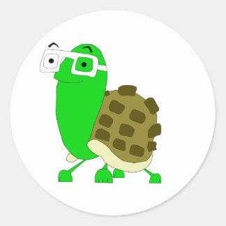 Pegatina de la tortuga del friki