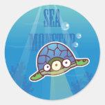 Pegatina de la tortuga del monstruo de mar
