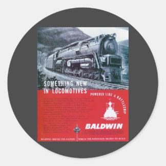 Pegatina de la turbina de vapor de Baldwin-PRR S-2
