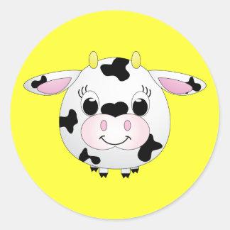 Pegatina de la vaca