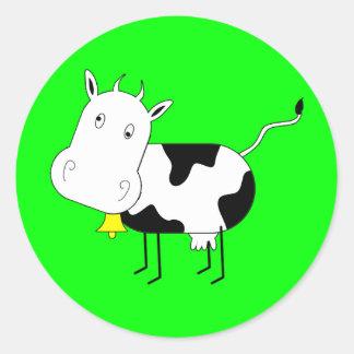 Pegatina de la vaca del dibujo animado