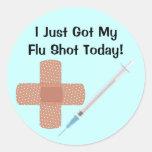 Pegatina de la vacuna de la gripe
