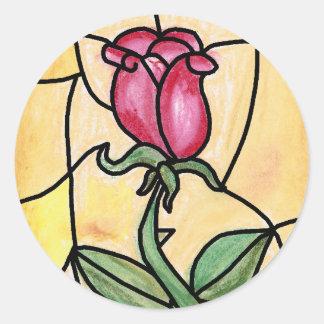 Pegatina de la ventana color de rosa