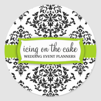 Pegatina de la verde lima de la guinda del pastel