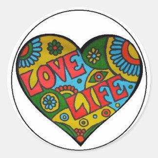 Pegatina de la vida del amor