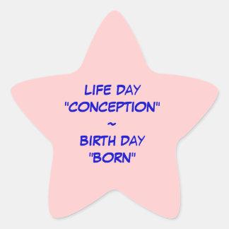 Pegatina de la vida y del nacimiento