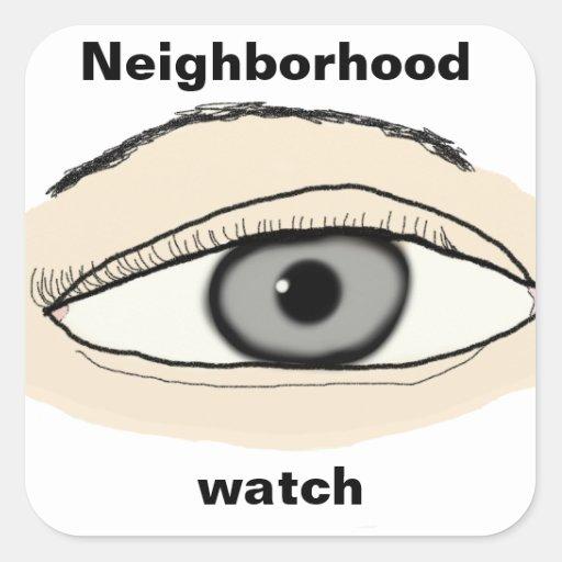 Pegatina de la vigilancia vecinal