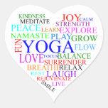 Pegatina de la yoga del corazón