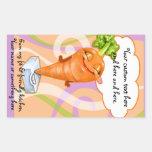 Pegatina de la zanahoria de la dieta sana