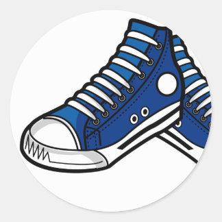 Pegatina de la zapatilla de deporte del baloncesto