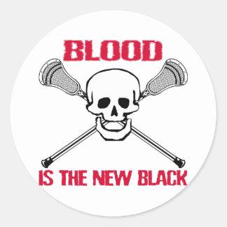 Pegatina de LaCrosse BlackBlood